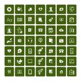 Set of 49 Universal Icons. Business, internet, web design. Stock Image