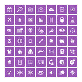 Set of 49 Universal Icons. Business, internet, web design. Stock Images