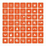 Set of 49 Universal Icons. Business, internet, web design. Royalty Free Stock Image
