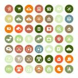 Set of 49 Universal Icons. Business, internet, web design. Stock Photos