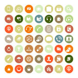 Set of 49 Universal Icons. Business, internet, web design. Stock Photography