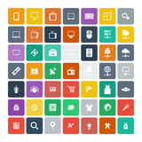 Set of 49 Universal Icons. Business, internet, web design. Royalty Free Stock Images