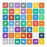Set of 49 Universal Icons. Business, internet, web design. Royalty Free Stock Photos