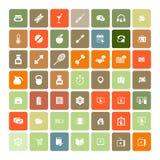 Set of 49 Universal Icons. Business, internet, web design. Stock Photo