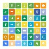 Set of 49 Universal Icons. Business, internet, web design. Royalty Free Stock Photo