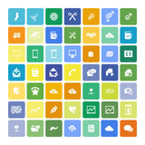 Set of 49 Universal Icons. Business, internet, web design. Set of 49 Universal Icons. Simple Flat Style. Business, internet, web design Royalty Free Illustration
