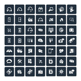 Set of 49 Universal Icons. Business, internet, web design. Stock Photos