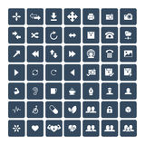 Set of 49 Universal Icons. Business, internet, web design. Set of 49 Universal Icons. Simple Flat Style. Business, internet, web design Stock Illustration
