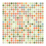 Set of 200 Universal Icons. Business, internet, web design. Royalty Free Stock Images