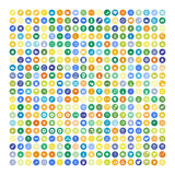 Set of 200 Universal Icons. Business, internet, web design. Royalty Free Stock Photo