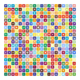 Set of 200 Universal Icons. Business, internet, web design. Stock Photo