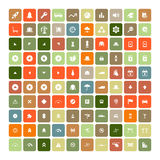 Set of 100 Universal Icons. Business, internet, web design. Set of 100 Universal Icons. Simple Flat Style. Business, internet, web design, random pictogram Stock Photography