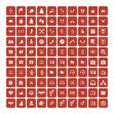 Set of 100 Universal Icons. Business, internet, web design. Set of 100 Universal Icons. Simple Flat Style. Business, internet, web design, random pictogram stock illustration