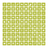 Set of 100 Universal Icons. Business, internet, web design. Royalty Free Stock Images