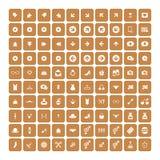 Set of 100 Universal Icons. Business, internet, web design. Set of 100 Universal Icons. Simple Flat Style. Business, internet, web design, random pictogram royalty free illustration