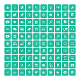 Set of 100 Universal Icons. Business, internet, web design. Stock Photo