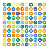 Set of 100 Universal Icons. Business, internet, web design. Royalty Free Stock Photos