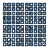 Set of 100 Universal Icons. Business, internet, web design. Stock Photography