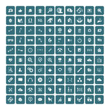 Set of 100 Universal Icons. Business, internet, web design. Royalty Free Stock Image