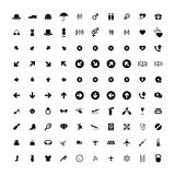 Set of 100 Universal Icons. Business, internet, web design. Set of 100 Universal Icons. Simple Flat Style. Business, internet, web design, random pictogram stock illustration