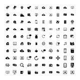 Set of 100 Universal Icons. Business, internet, web design. Set of 100 Universal Icons. Simple Flat Style. Business, internet, web design, random pictogram Royalty Free Stock Image