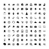 Set of 100 Universal Icons. Business, internet, web design. Set of 100 Universal Icons. Simple Flat Style. Business, internet, web design, random pictogram vector illustration