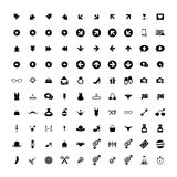 Set of 100 Universal Icons. Business, internet, web design. Set of 100 Universal Icons. Simple Flat Style. Business, internet, web design, random pictogram Royalty Free Stock Photography