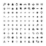 Set of 100 Universal Icons. Business, internet, web design. Royalty Free Stock Photo