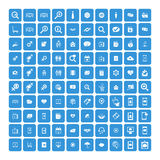 Set of 100 Universal Icons. Business, internet, web design. Stock Photos