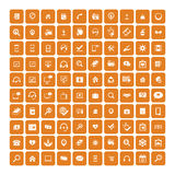 Set of 100 Universal Icons. Business, internet, web design. Stock Image