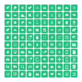 Set of 100 Universal Icons. Business, internet, web design. Set of 100 Universal Icons. Simple Flat Style. Business, internet, web design, random pictogram Stock Photo