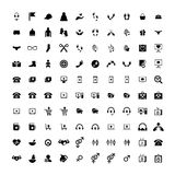 Set of 100 Universal Icons. Business, internet, web design. Set of 100 Universal Icons. Simple Flat Style. Business, internet, web design, random pictogram Royalty Free Stock Photos