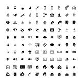 Set of 100 Universal Icons. Business, internet, web design. Set of 100 Universal Icons. Simple Flat Style. Business, internet, web design, random pictogram Stock Images