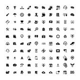 Set of 100 Universal Icons. Business, internet, web design. Set of 100 Universal Icons. Simple Flat Style. Business, internet, web design, random pictogram Royalty Free Stock Images