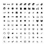 Set of 100 Universal Icons. Business, internet, web design. Royalty Free Stock Photography