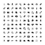 Set of 100 Universal Icons. Business, internet, web design. Set of 100 Universal Icons. Simple Flat Style. Business, internet, web design, random pictogram Stock Image