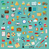 Set with universal icons stock illustration