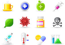 Set a universal icons - Medicine Stock Image