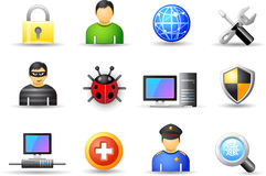 Set a universal icons - Protection Royalty Free Stock Image