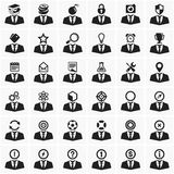 Set of universal icons. Set of vector icons of human silhouette and activity Stock Photography