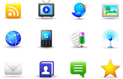Set of universal media icons Stock Image