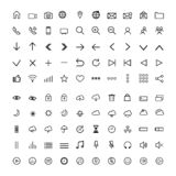 Set universal modern icons ,thin line royalty free illustration