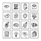 Set of 600 universal modern thin line icons for Stock Photo