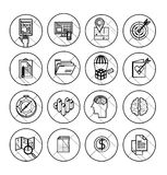 Set of 600 universal modern thin line icons for Stock Image