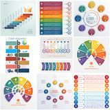 Set 10 universal templates elements Infographics conceptual cycl. Ic processes for 8 positions possible to use for workflow, banner, diagram, web design Stock Photography