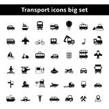 Set of universal transportation vehicles. Pictograms for mobile app or infographics presentation  vector illustration Stock Image