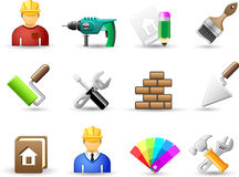 Set of universal work tool icons Royalty Free Stock Image