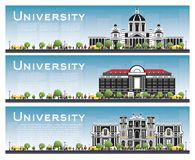Set of University Campus Study Banners. Stock Photo