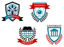 Set of university and education Stock Photo