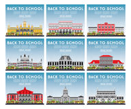 Set of University, High School and College Study Banners. Stock Photo